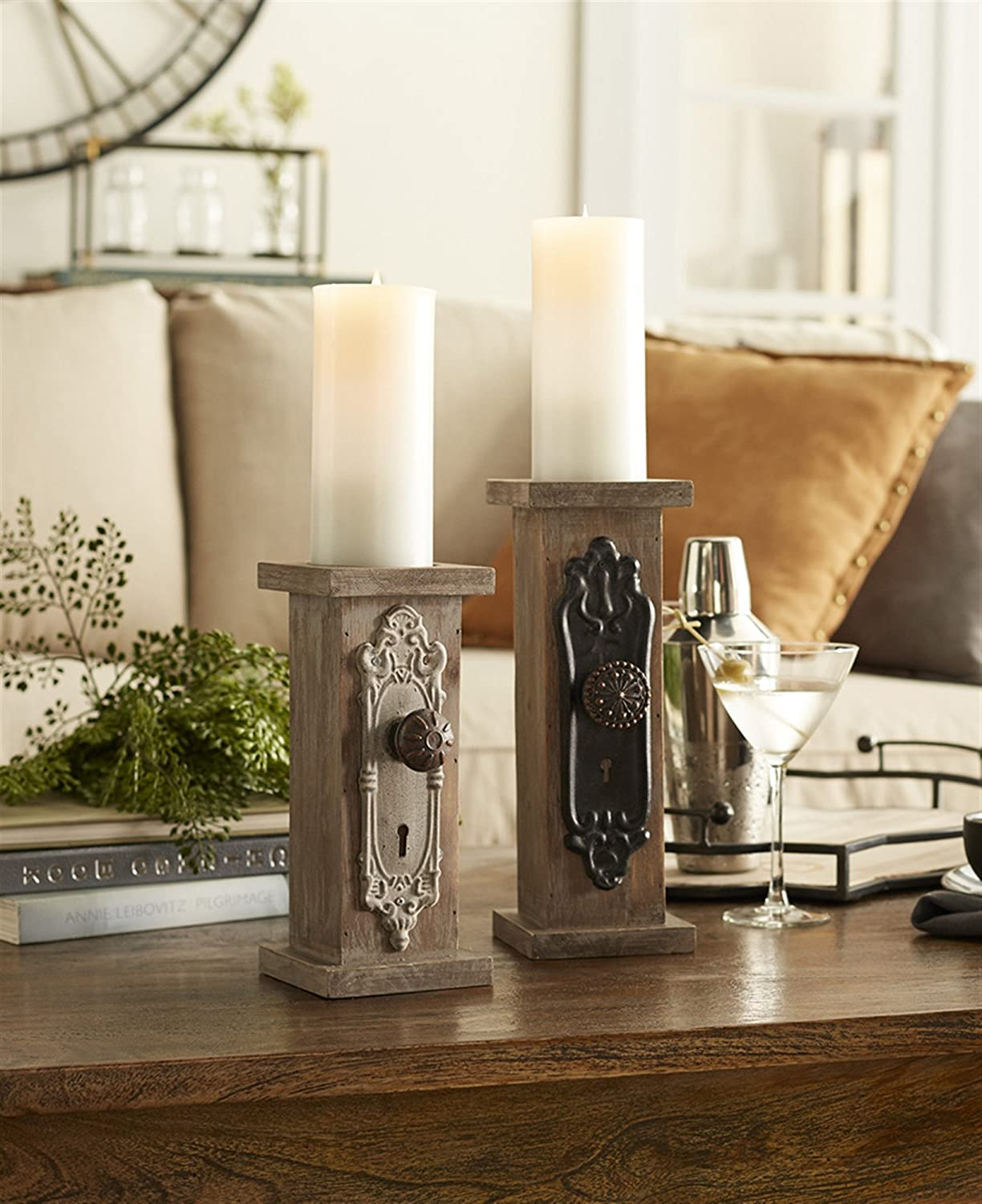 Melrose Lowest price challenge International 66519 Outstanding Door Knob Set Candle 2 of Holders