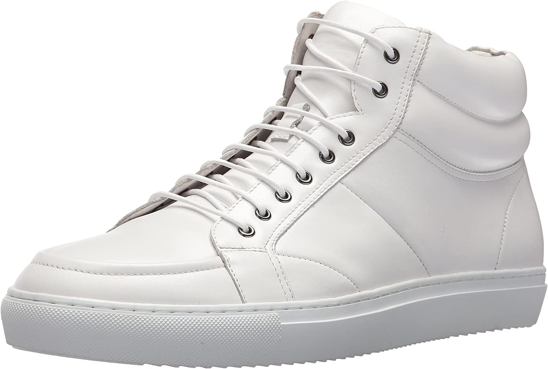 ZANZARA Men's Clef Fashion Sneaker, White, 10 US