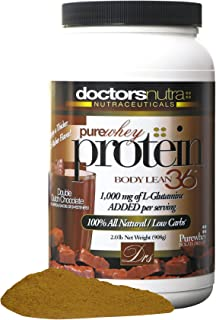 Pure 100 Percent Undenatured Grass Fed Whey Protein by Doctors Nutra Nutraceuticals, Low Carb Low Fat, Double Dutch Chocolate Flavor, Natural Ultrafiltered Plus 1000 Milligrams L-Glutamine, 2 Pounds