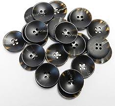 こげ茶色系 水牛調ボタン 20mm 4穴 スーツ ジャケット 最適 25個入り FNMR01-20-DBR-694