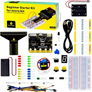 KEYESTUDIO BBC Micro:bit Starter Kit Breadboard Coding Kit with Microbit V1 Board, Compatible with Microbit V2(not contain...