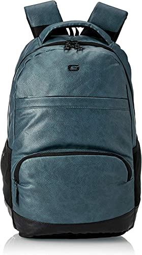 Gear Vintage2 Anti Theft Faux Leather 18 cms Navy Blue Black Laptop Backpack (LBPVG2LTH0501)
