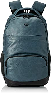 Gear Vintage2 Anti Theft Faux Leather 18 Inch/48 cms Navy Blue Black 28Ltr Laptop Backpack (LBPVG2LTH0501)