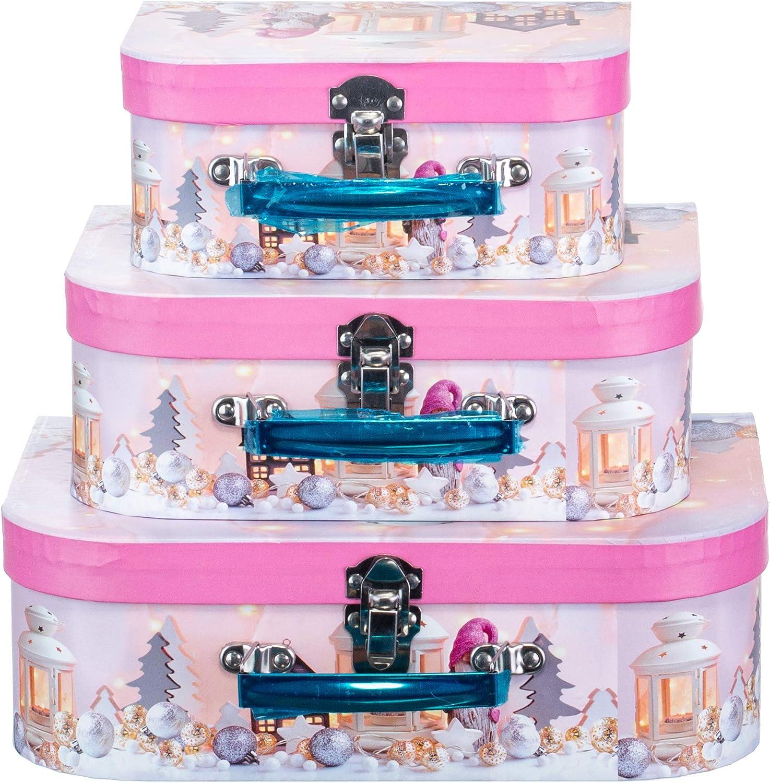 3 unidades dise/ño de gnomo Caja de regalo con asa Brandsseller