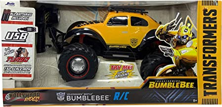 Bring Your Favorite Character to The Races Bright, Well Detailed Fast Awesome 1:12 Transformer Bumblebee R/C 150 Scale MPH (11-13 MPH) Working LED Head Undercarriage Lights