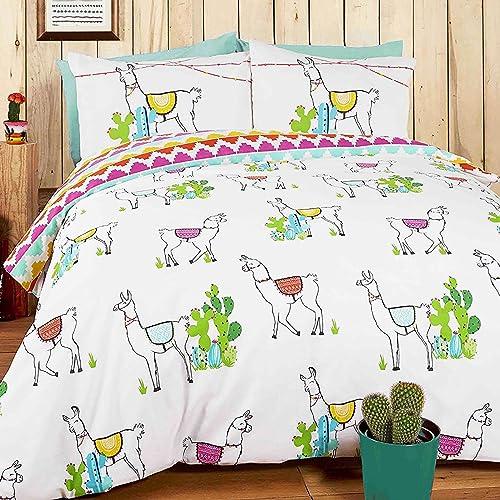 Brand New Quirky Cacti Cactus Plants Reversible Duvet Quilt Cover Bedding Set