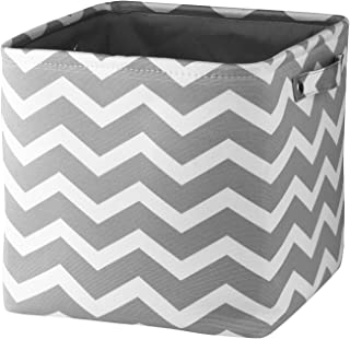 Awekris Rectangle Storage Basket Fabric Storage Bins Canvas Organizer Bin Nursery Hamper with Handles for Home/Kitchen/Off...