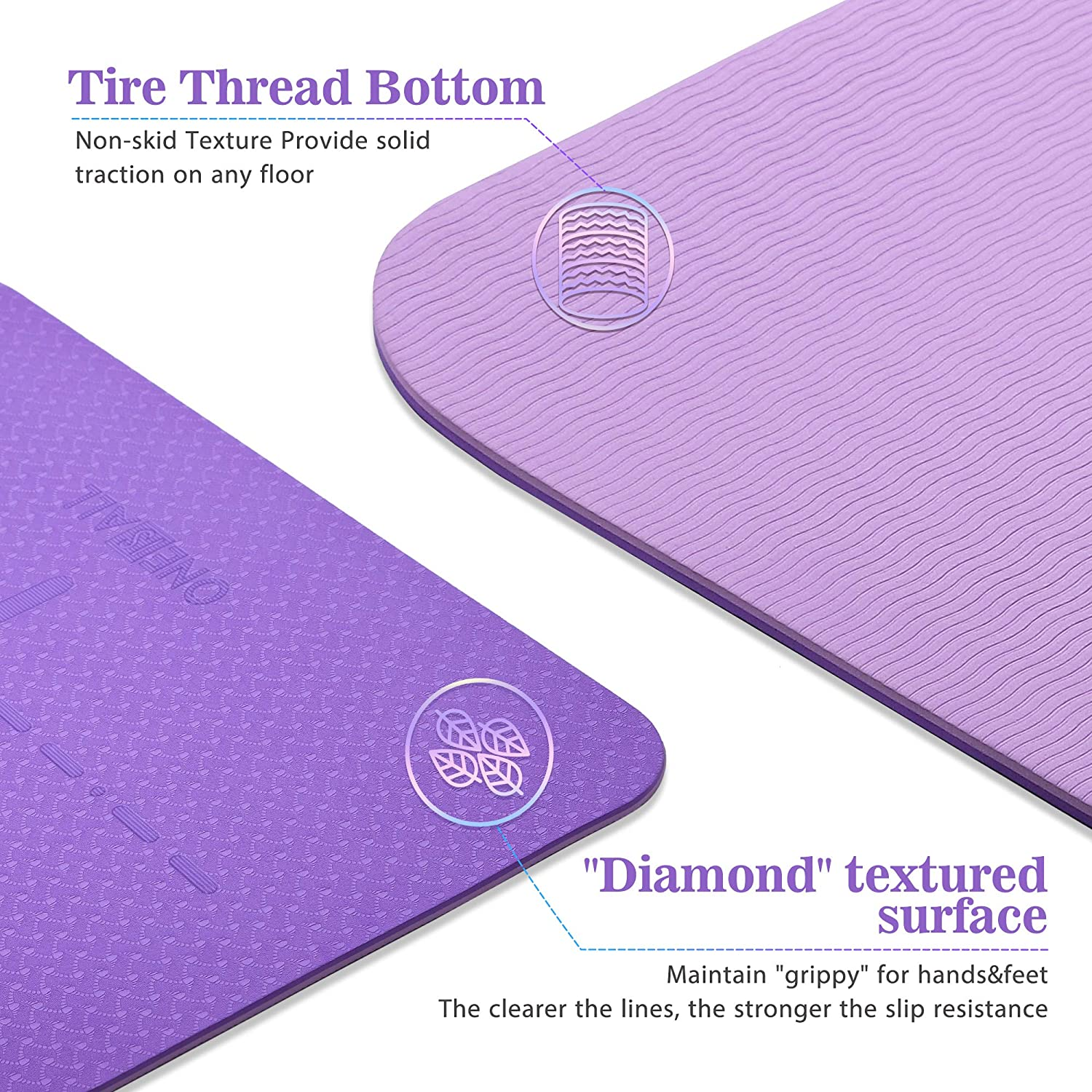 1//4inch Fitness Hot Yoga Exercise Mat Pilates Mat TPE Travel Yoga Mat with Carrying Strap /& Bag for Yoga//Pilates//Home Gym//Floor Exercise Thick Nonslip Yoga Mat with Alignment Lines Yoga Mats