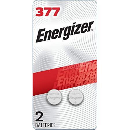 Energizer Silver Oxide 377 Batteries (2 Battery Count) - Packaging May Vary