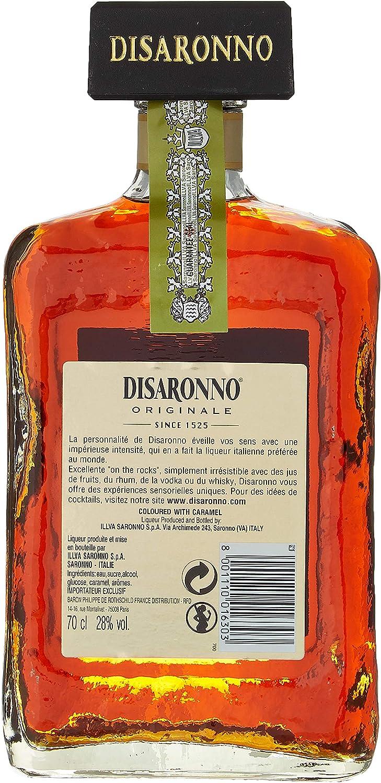 Licor italiano Amaretto Disaronno licor de almendrina - 1 botella de 70 cl