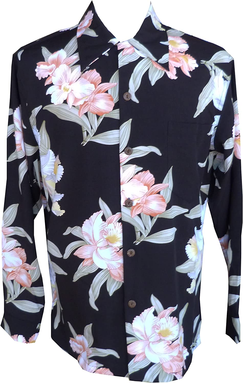 SEAL limited product Paradise Popular products Found Mens Orchid Corsage Style Long Kamehameha Sleeve