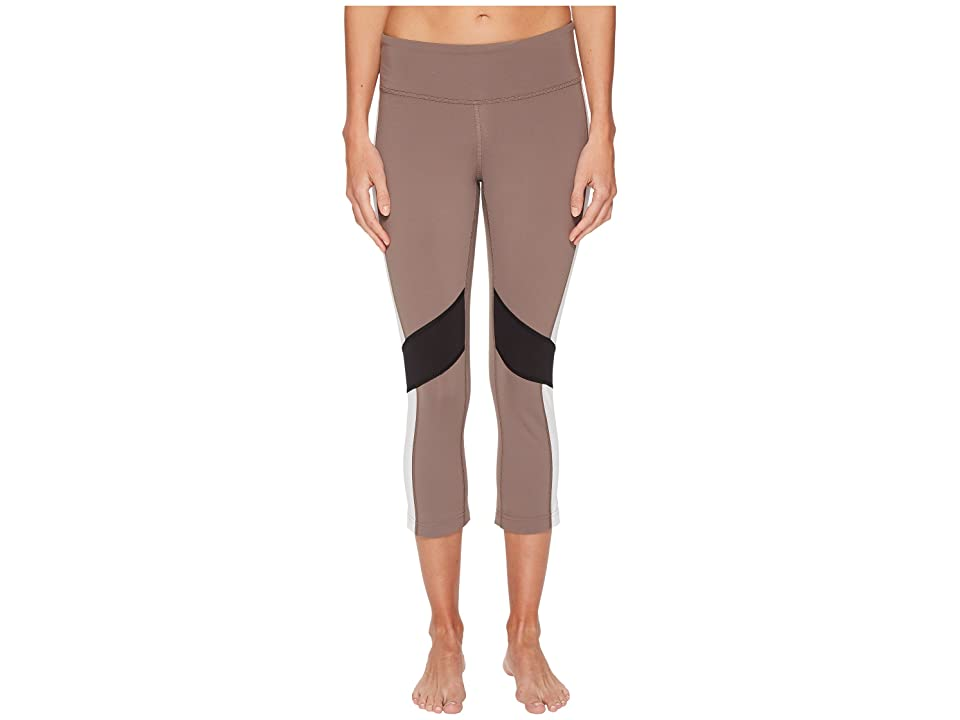 Reebok Lux 3/4 Tights Color Block (Smoky Taupe) Women