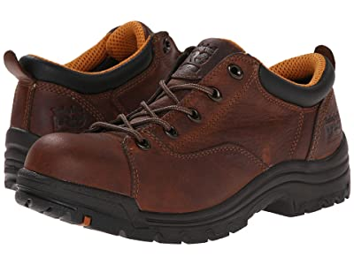 Timberland PRO TiTAN(r) Oxford Alloy Safety Toe (Brown Full-Grain Leather) Women