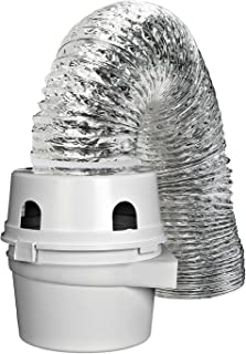 Kenmore External dryer ducting Hose - Fits Indoor Dryer Vent Kit with 4 Inches x 5 Foot Lint Trap With Lama BWR981351
