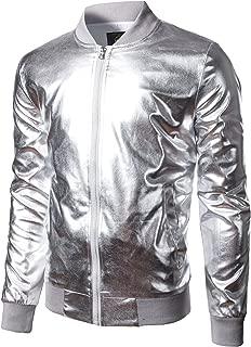 Men's Metallic Party Costume Varsity Bomber Jacket