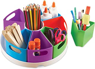 Learning Resources Create-a-Space Storage Center, Bright Colors, Classroom Craft Keeper, 10 Piece set