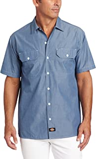 Men's Short Sleeve Chambray Shirt