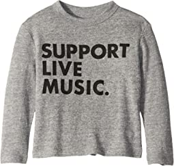 Super Soft Support Live Music Print Long Sleeve Tee (Toddler/Little Kids)