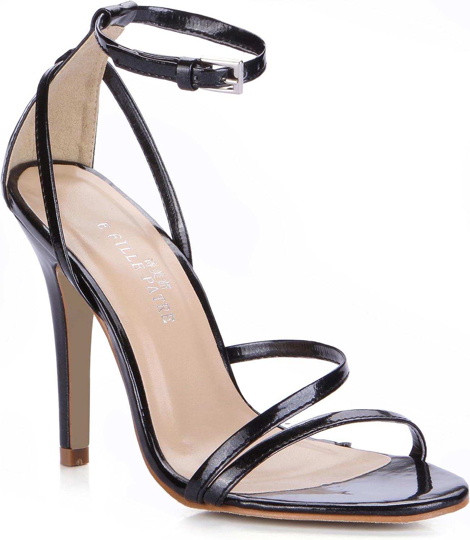 DolohinGirl Women Fashion Black High Heel Sandals Formal Business Court shoes SM00296