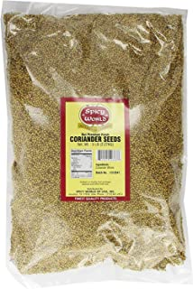 Spicy World Coriander Seeds 5 Pounds Bulk - Pure Indian Spice