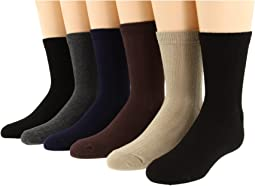 Rib Crew Sock Six Pair Pack (Infant/Toddler/Little Kid/Big Kid/Adult)
