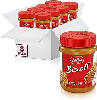 Lotus Biscoff, Cookie Butter Spread, Creamy, non GMO + Vegan, 14.1 oz, Pack of 8