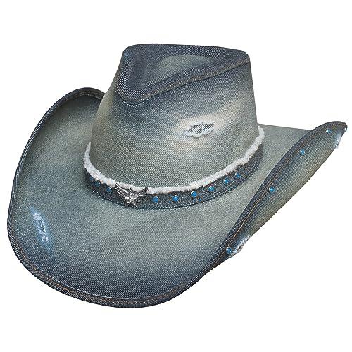 52da10b19b7 Bullhide Montecarlo Hats Silver Wings Denim Western Cowboy Hat