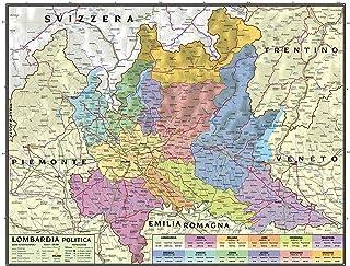 Cartina Lombardia Da Stampare.Amazon It Lombardia Cartina