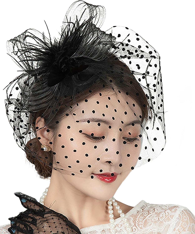 Girls Fascinators Hats 20s 50s Hat Pillbox Hat Mesh Banquet Hat Derby Headband for Women