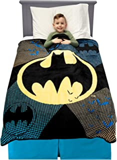 "Franco Kids Bedding Soft Plush Microfiber Throw, 46"" x 60"", Batman"
