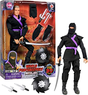"Click N' Play 12"" Inch Ninja Action Figure Play Set With Accessories."