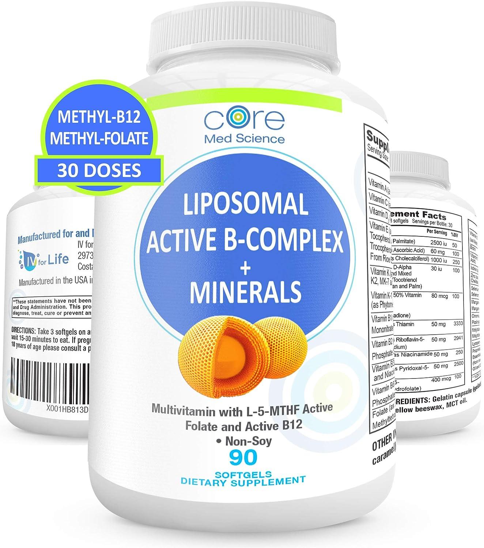 Liposomal Active Methylated B-Complex Minerals Antioxidants - Max 73% OFF Max 85% OFF