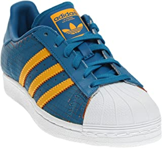 adidas Youths Superstar F37789 Blue Leather Trainers 6 US