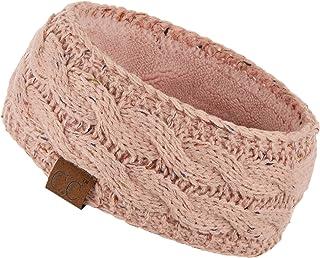 C.C Winter Fuzzy Fleece Lined Thick Knitted Headband Headwrap Earwarmer