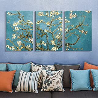 wall26 3 Panel Canvas Wall Art - Almond Blossom by Vincent Van Gogh - Giclee Print Gallery Wrap Modern Home Decor Ready to Hang - 16
