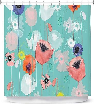 Dia Noche SHO-JulieAnsbroPoppiesRun Shower Curtains, 69 x 72 Standard