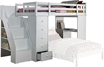 Amazon Com Bunk Bed With Stairs And Desk