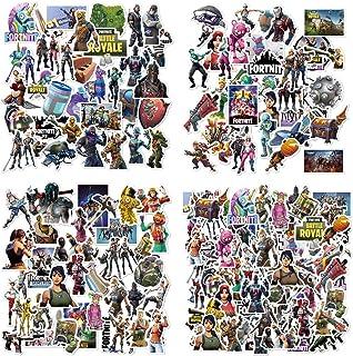 Hizoop 100 piezas de pegatinas para juegos, decoraciones para fiestas de cumpleaños, decoraciones para gamers, computadoras portátiles, estuches de viaje de vinilo, calcomanías impermeables