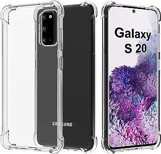 Migeec Funda Solo para Samsung Galaxy S20 Suave TPU Gel Carcasa Anti-Choques Anti-Arañazos Protección a Bordes y Cámara Pr...