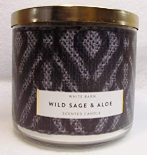 White Barn Wild Sage & Aloe Scented 3 Wick Candle 14.5 oz