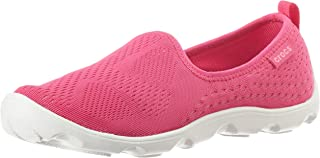 Crocs Women Duet Busy Day Xpress Mesh Skimmer Shoes, Candy Pink Lemonade, US 6