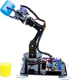 Adeept 5-DOF Robotic Arm Kit Compatible with Arduino IDE   5Axis Robot Arm Programmable Robot DIY Coding Robot Kit   STEAM...