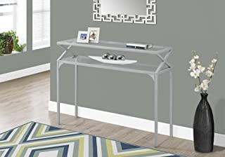 Monarch Accent Table - 42 L/Silver Metal Hall Console