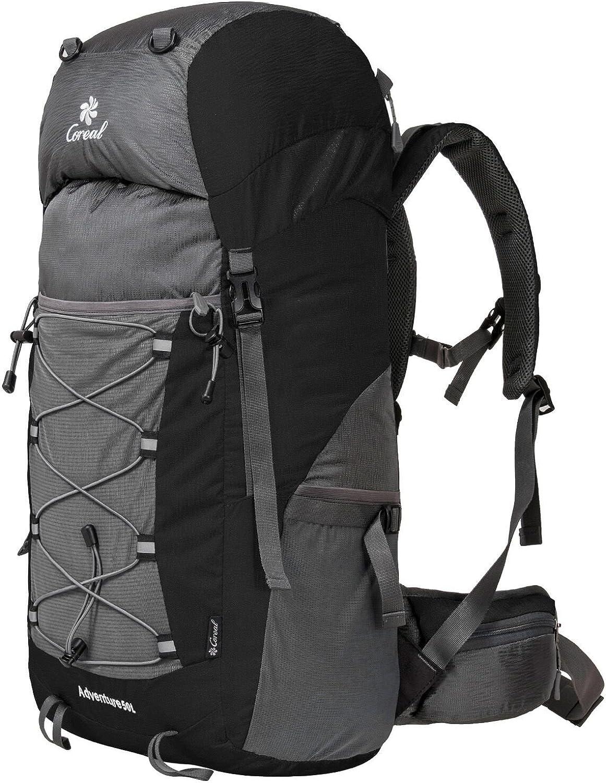 Coreal 50L Hiking Backpack Camping Rucksack Trekking Daypack