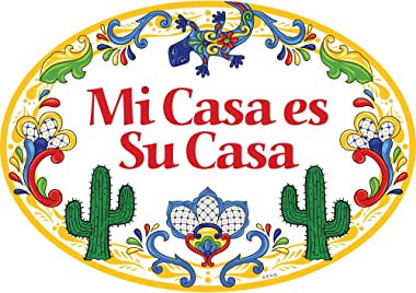 Essence of Europe Gifts E.H.G Mi Casa ES Su Casa Latino Traditional Southwest Motif Artwork Spanish My House is Your House 11