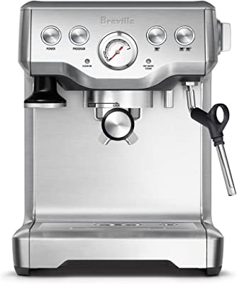 Breville BES840XL Infuser Espresso Machine, Brushed Stainless Steel, 100