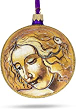 BestPysanky Leonardo Da Vinci Head of A Woman Glass Ball Christmas Ornament 4 Inches