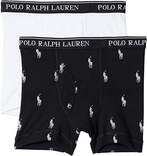 Polo Black/White All Over Pony Player/White