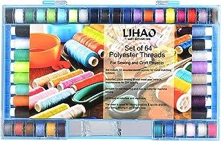comprar comparacion LIHAO 32 Hilos de Coser de Poliéster con 32 Bobinas Metal para Máquina de Coser