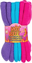 Hot Feet Women's 2 Pairs Heavy Thermal Socks - Thick Insulated Crew for Cold Weather; Sock Size 9-11, Shoe Size 4-10.5